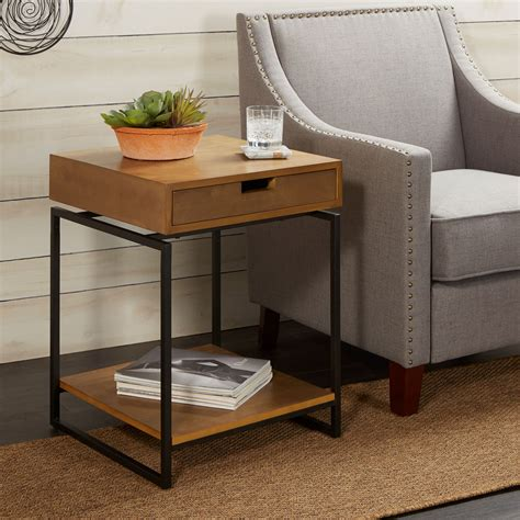 Wood End Tables Drawer
