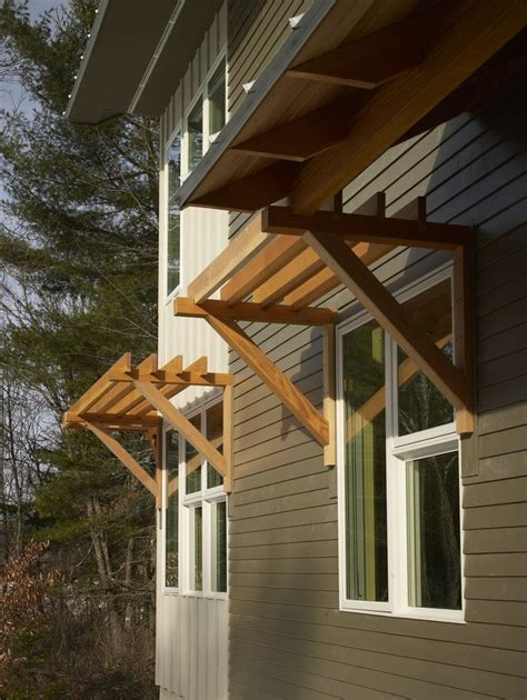 Wood Exterior Window Awnings