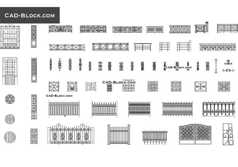 Wood Fence Autocad Block
