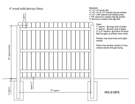 Wood Fence Detail PDF
