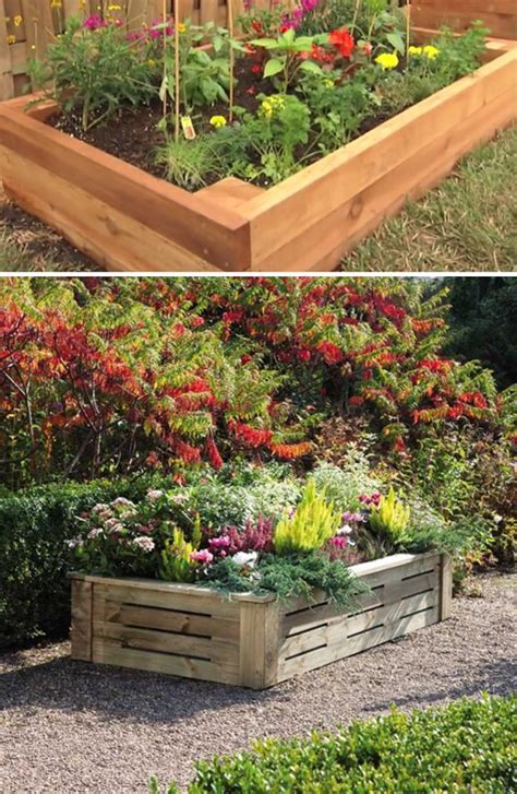 Wood Flower Bed Diy Projects