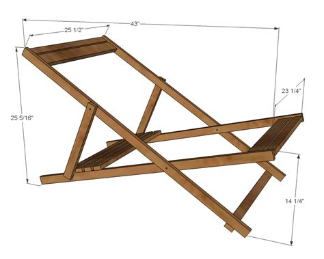 Wood Folding Sling Chair Plans