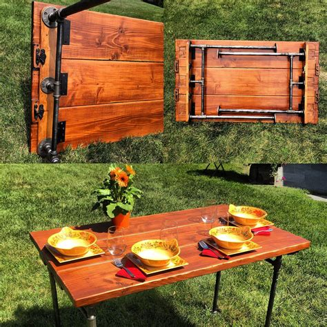 Wood Folding Table Diy Pipe