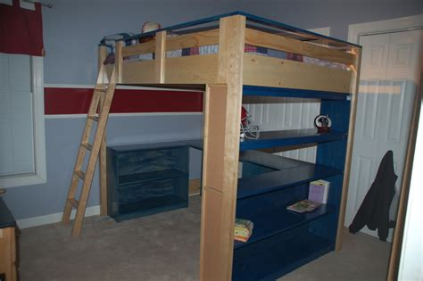 Wood Full Size Loft Bed Plans