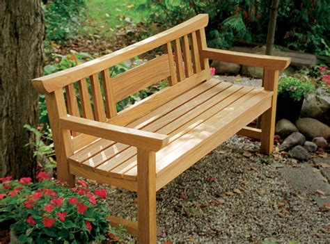 Wood Garden Bench Plans Like Hardware Store