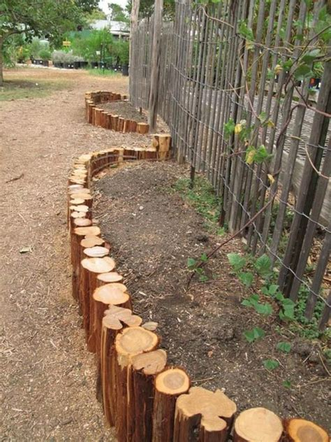 Wood Garden Edging Diy Crafts