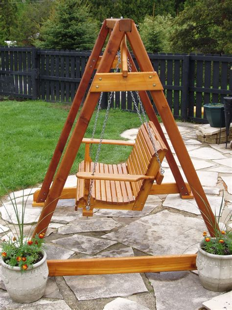 Wood Garden Swing Plans Do It Yourself
