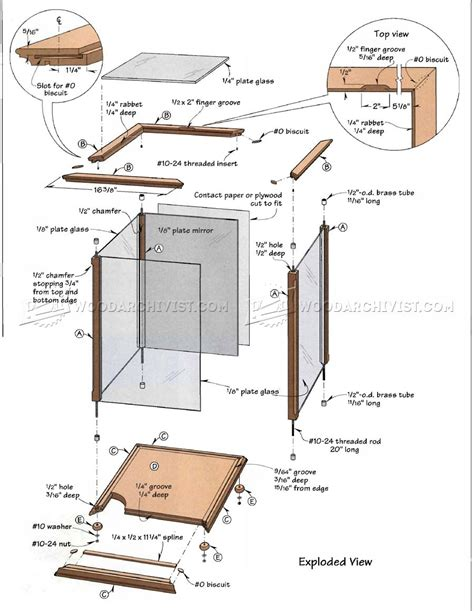 Wood Glass Display Case Plans