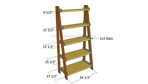 Wood Ladder Bookshelf Plans