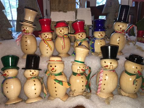 Wood Lathe Snowman Projects