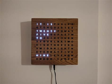 Wood Led Clock Diy Photo