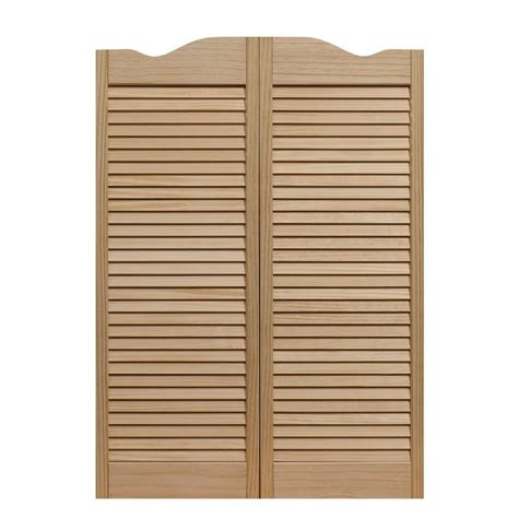 Wood Louvered Cafe Doors Plans