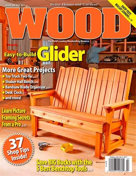 Wood Magazine Free Plans July 2011 Cal