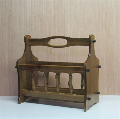 Wood Magazine Rack With Handle