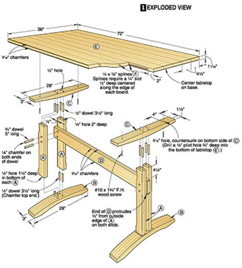 Wood Magazine Trestle Table Plans