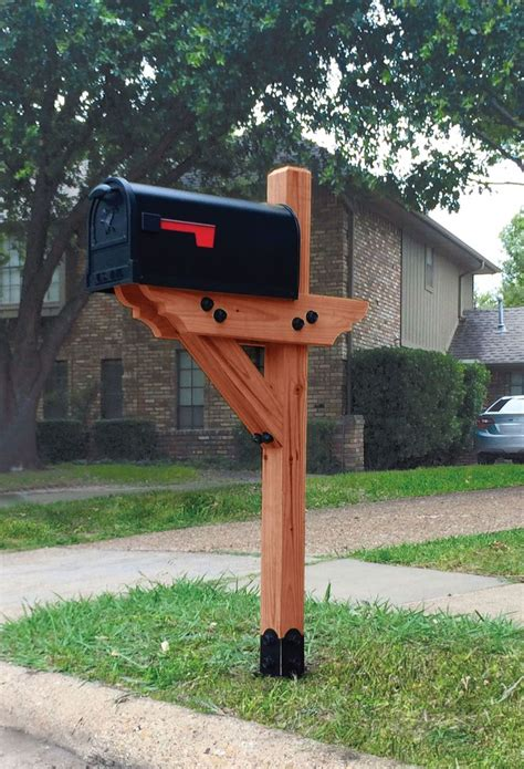 Wood Mailbox Post Designs Plans