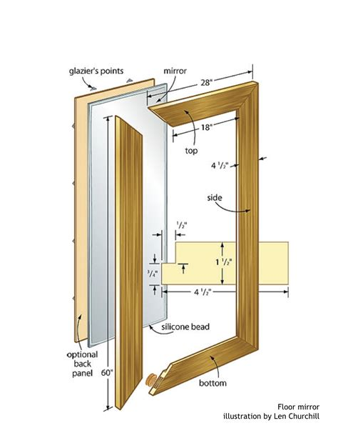 Wood Mirror Frame Plans