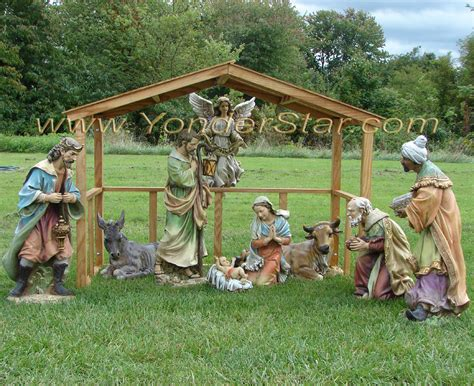 Wood Nativity Scene For Yard