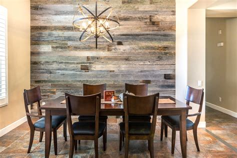 Wood On Walls In Dining Room