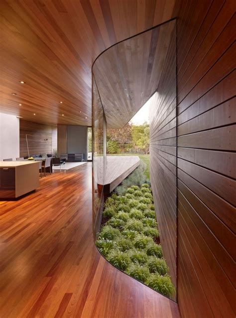 Wood On Walls In House
