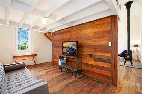 Wood On Walls In Living Room
