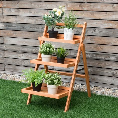 Wood Outdoor 3 Tiered Plant Stand Plans