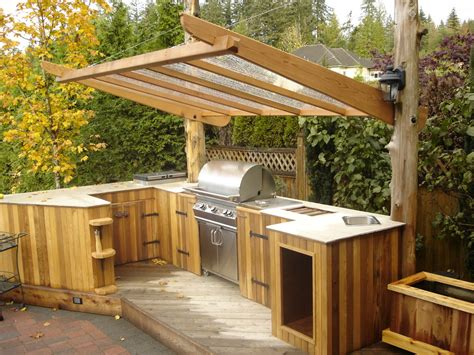 Wood Outdoor Kitchen Plans