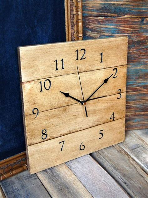 Wood Pallet Wall Clock Diy