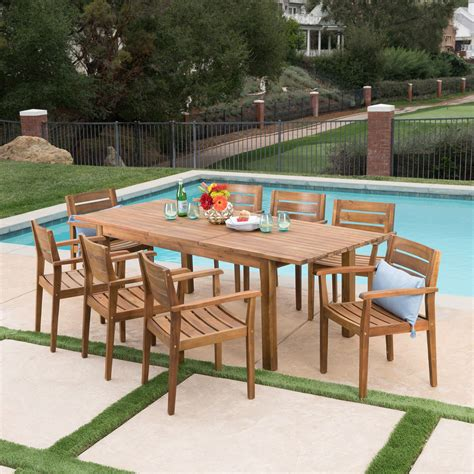 Wood Patio Dining Furniture