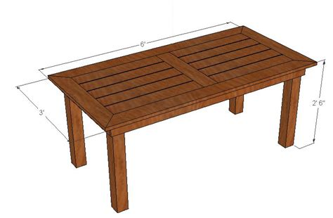 Wood Patio Table Plans Free