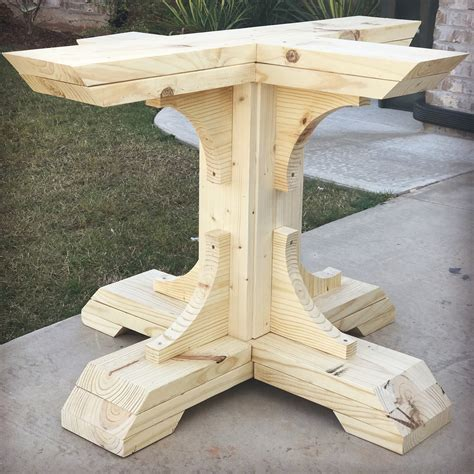 Wood Pedestal Table Base Diy 4x4