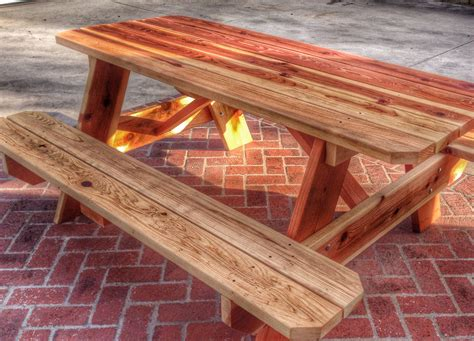 Wood Picnic Table Plans Using 2x8 Lumber