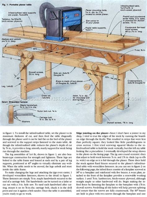 Wood Planer Outfeed Table Plans