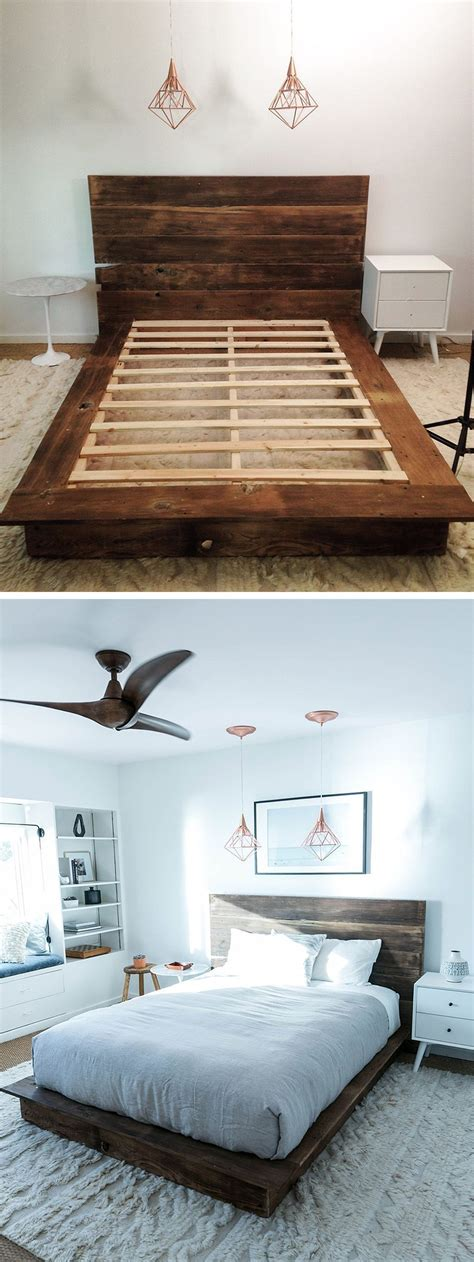 Wood Plank Bed Frame Diy Ideas