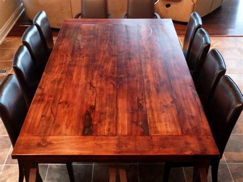 Wood Plank Dining Table Diy Plans