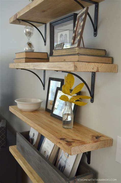 Wood Plank Shelves Diy Pinterest