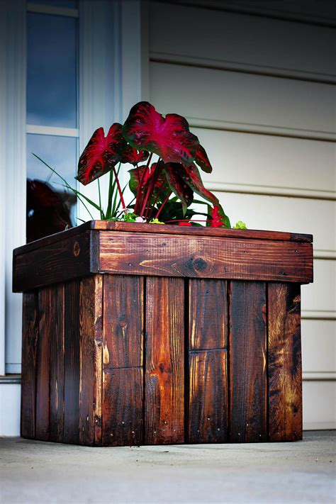 Wood Planter Box Diy Stain