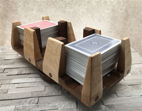 Wood Playing Card Deck Holders