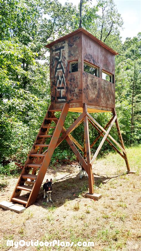 Wood Portable Free Hunting Blind Plans