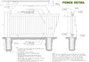 Wood Privacy Fence Detail