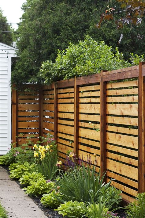 Wood Privacy Fence Diy Ideas