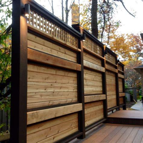 Wood Privacy Screens