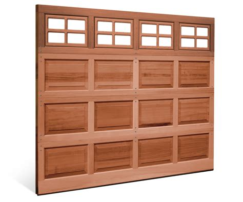 Wood Raised Panel Garage Doors