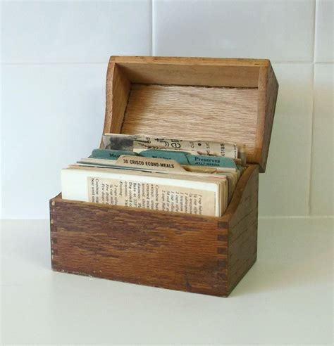 Wood Recipe Card Box Plans