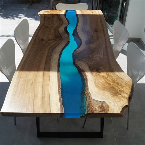 Wood Resin Dining Table