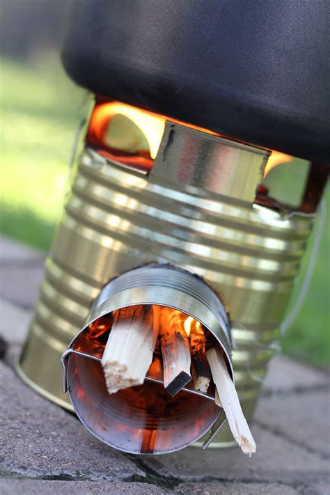 Wood Rocket Stove Diy Coffee