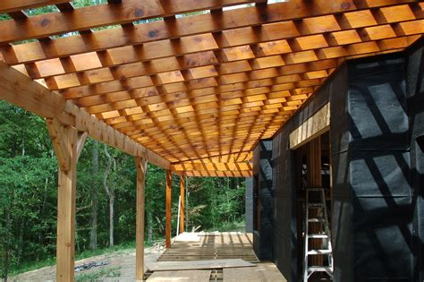 Wood Roof Deck Construction
