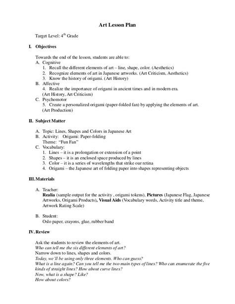 Wood Sculpture Lesson Plans