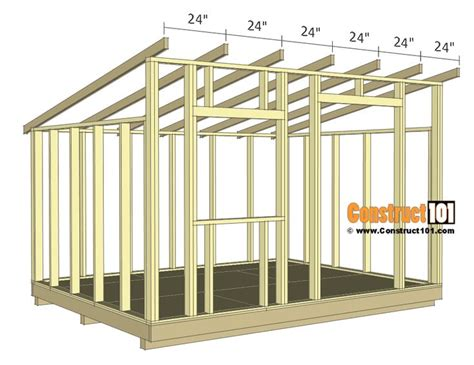 Wood Shed Building Plans 10x12