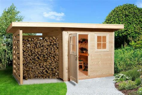 Wood Shed Plans With Overhang Design